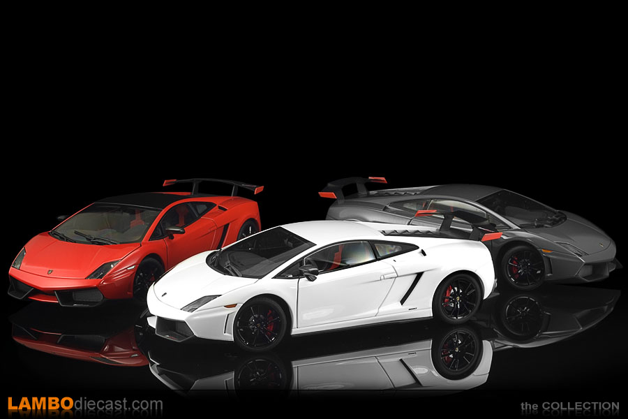The three shades made by AUTOart together, Bianco Monocerus, Grigio Telesto and Rosso Mars