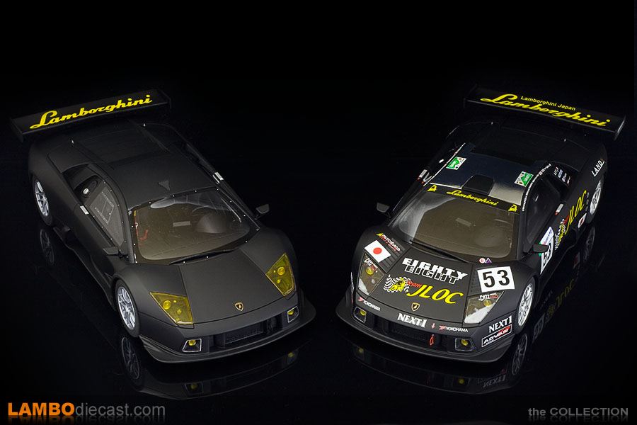 A look at the difference between the Kyosho version on the left and the GT Spirit on the right