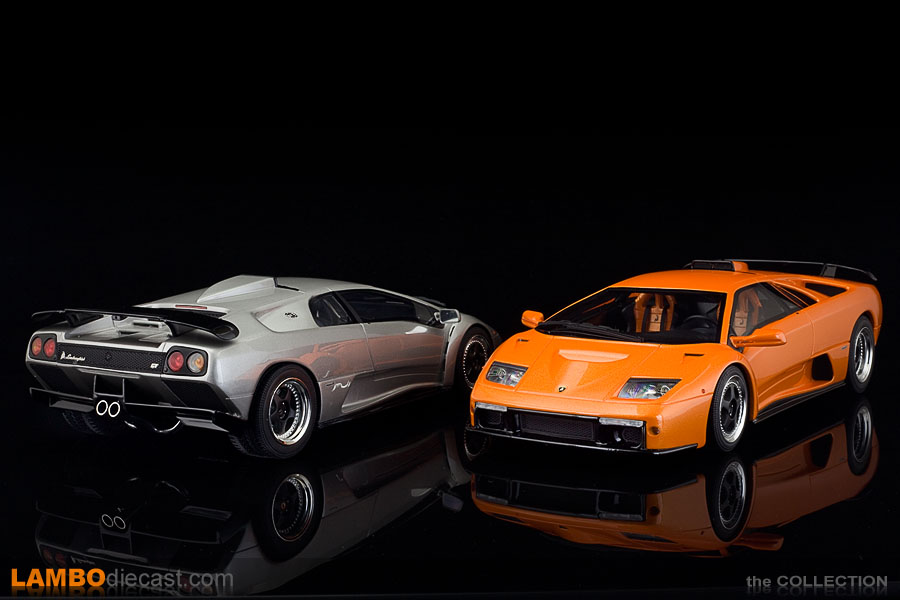 The Diablo GT in real life has carbon fiber parts on the outside, Kyosho finished them in gloss black instead