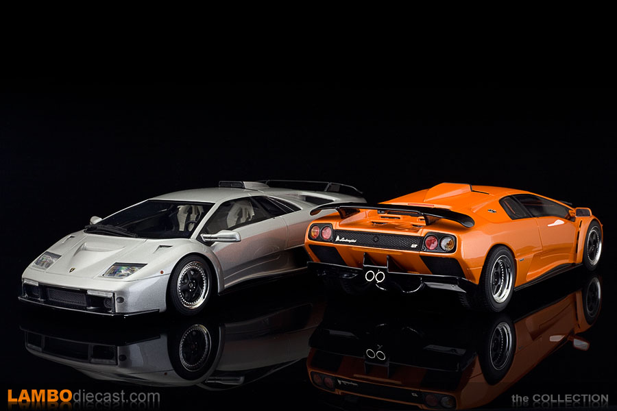 I couldn't resist adding the silver metallic GT Spirit version to my orange metallic Kyosho Diablo GT