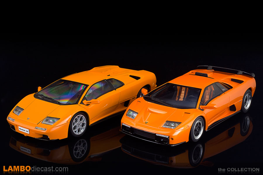 Comparing the shade of orange on the Diablo GT to the one on the Diablo 6.0 VT