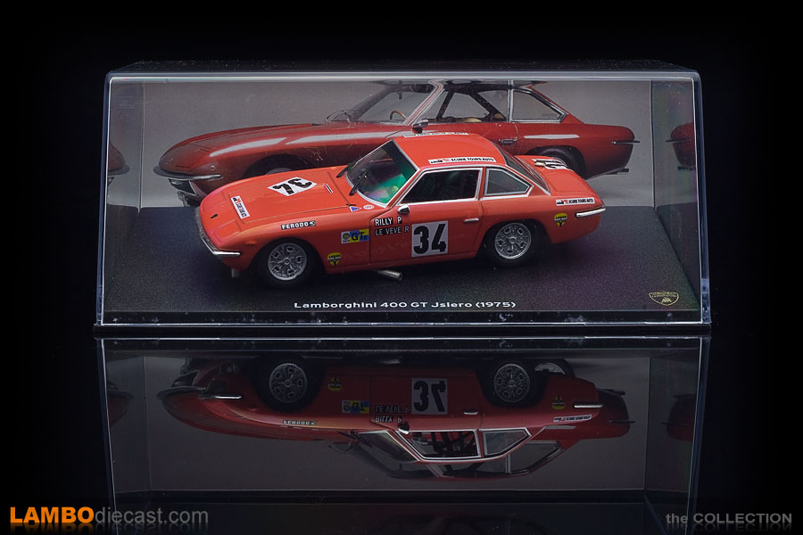 This very special version of the Lamborghini Islero 400 GT comes in a nice display box