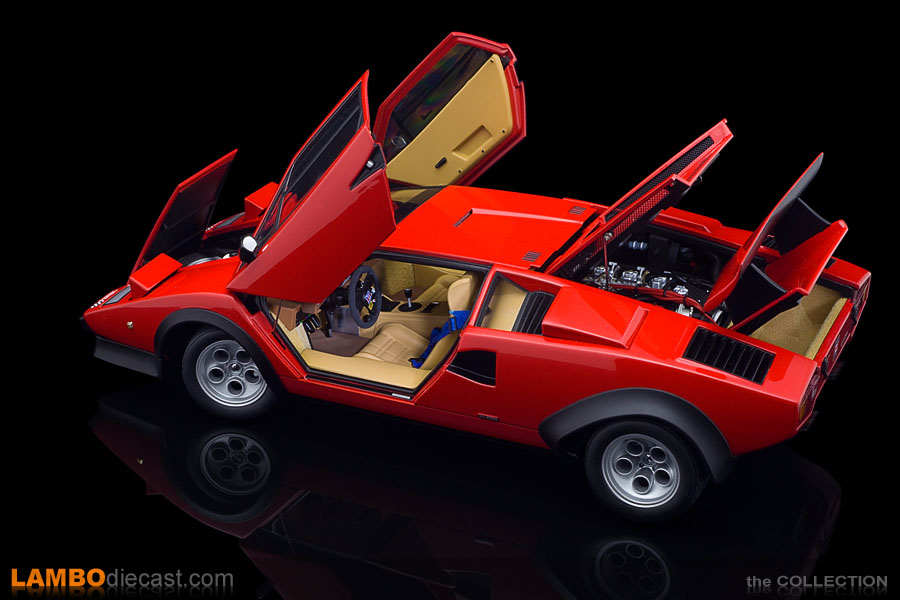 The AUTOart version of the red Lamborghini Countach Walter Wolf