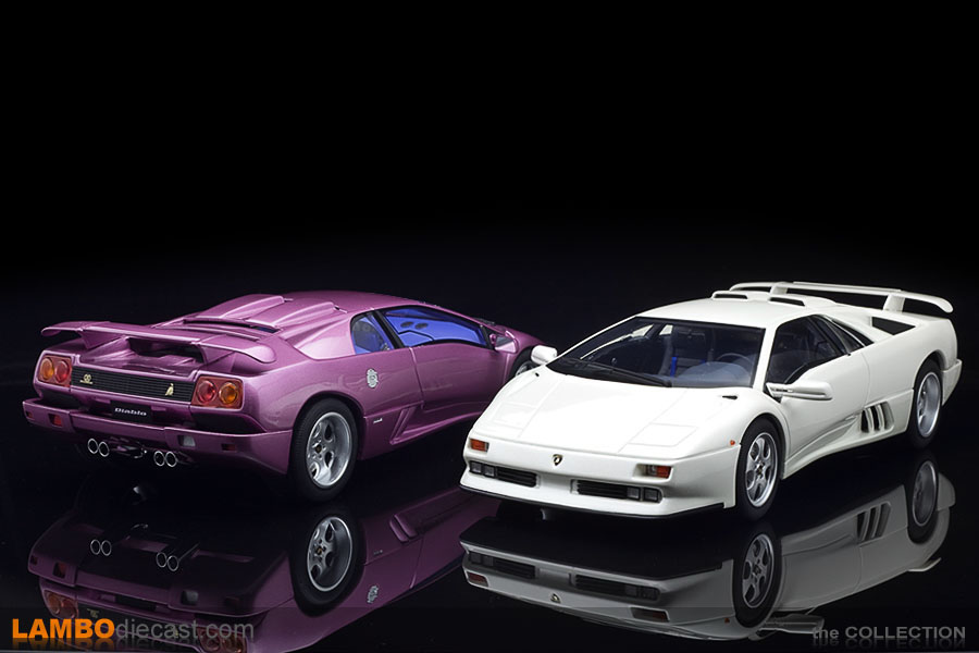 The two shades on the Diablo SE30 JOTA from Kyosho and GT Spirit