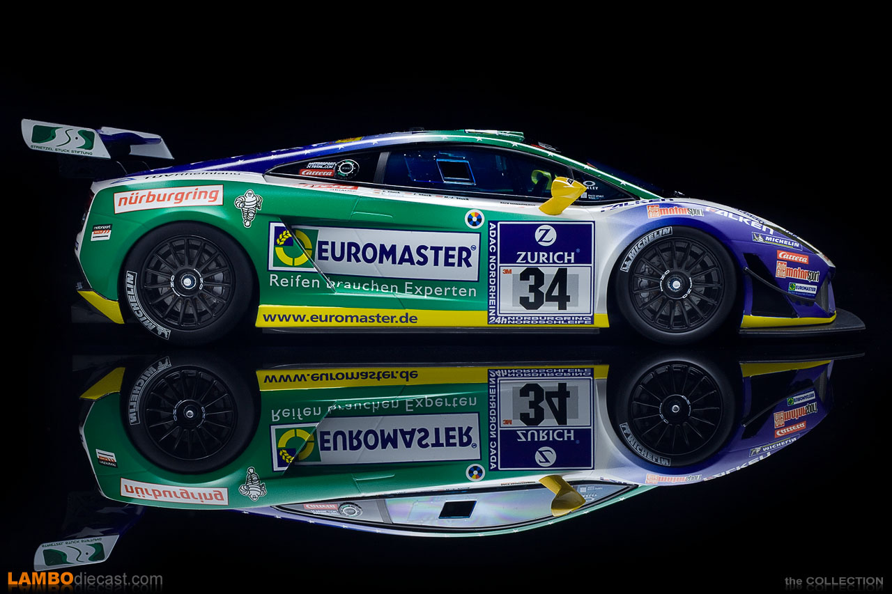 Full side view of the 2011 Lamborghini Gallardo LP600+ GT3