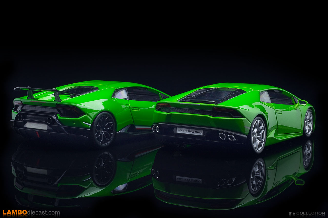 Especially the rear between the Huracan LP610-4 and the Performante was modified extensively