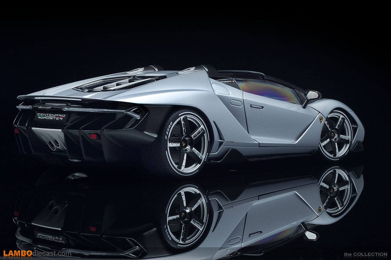 The Lamborghini Centenario Roadster from AUTOart in 1/18 scale is a masterpiece