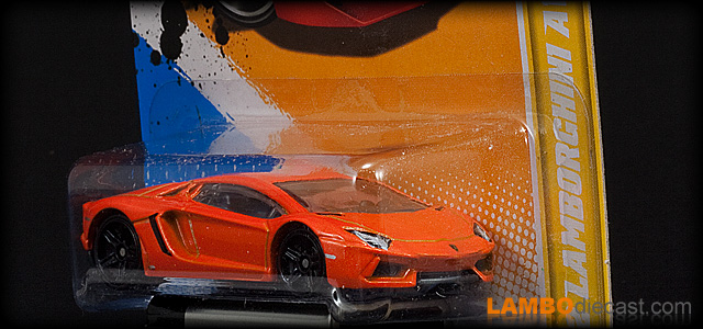 The 1/64 Lamborghini Aventador LP700-4 from Hotwheels, a review by LamboDieCast.com