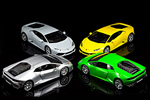 Another look at all four shades created by Bburago on the Lamborghini Huracan