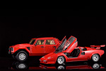 Doors open on the Countach to reach the height of the massive LM002
