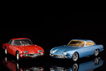 The red 350 GT from Ricko next to the blue one from CMR