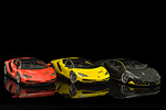 All three shades of the Maisto made Lamborghini Centenario side by side