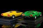 A look at the rear of the Countach prototype and the production prototype