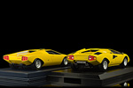 Rear view of the Countach prototype and the LP400